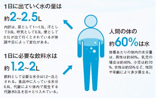 人間の体と水分