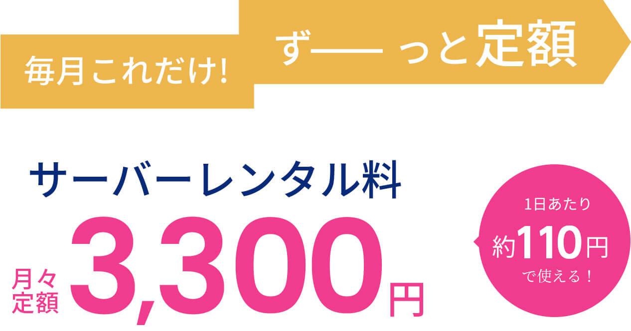 エブリィフレシャス定額制3,300円